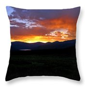 Burning Of Uncertainty Throw Pillow