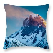 Burning Peak Throw Pillow