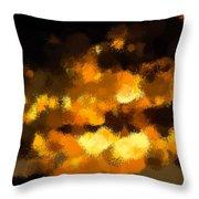 Burning Sky Throw Pillow