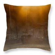 Burning Through The Fog Throw Pillow