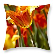 Tulips-flowers-tulips Burning Throw Pillow