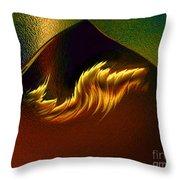 Burning Winds Across The Sahara  Throw Pillow