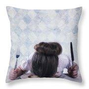 Burnout Throw Pillow by Joana Kruse