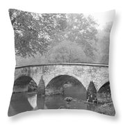 Burnside Bridge Antietam National Throw Pillow