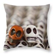Burnt Orange And White Throw Pillow