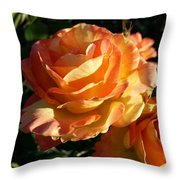 Burnt Rose Throw Pillow