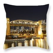 Burrard Bridge Vancouver Throw Pillow