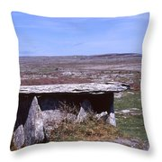 Burren Wedge Tomb Throw Pillow