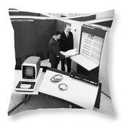 Burroughs 6500 Computer System Throw Pillow