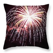 4th Of July Fireworks 9 Throw Pillow