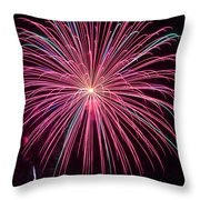 4th Of July Fireworks 24 Throw Pillow