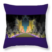 Burst Out Buildings Throw Pillow