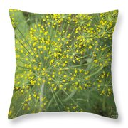 Bursting Dill Plant Throw Pillow