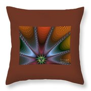 Bursting Star Nova Fractal Throw Pillow