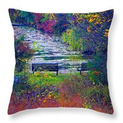 Bursting With Color 2 Throw Pillow