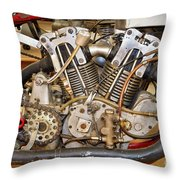 Burt Munro Special Indian Scout Engine Throw Pillow