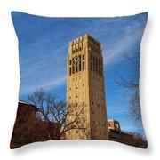 Burton Memorial Tower Throw Pillow