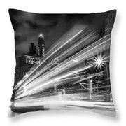 Bus Lights Throw Pillow