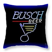 Busch And The Blues Edited Throw Pillow