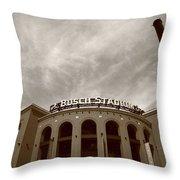 Busch Stadium - St. Louis Cardinals 7 Throw Pillow