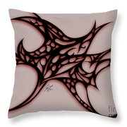 Bushal Of Thorns-inverted Shadow Throw Pillow