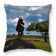 Bushbuck Guard Of The Mound   Throw Pillow