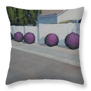 Bushes On Amber Ridge Way - Art By Bill Tomsa Throw Pillow