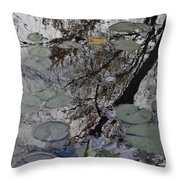 Lilies In The Pond Throw Pillow