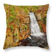 Bushkill Falls Pa Throw Pillow