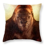 Bushman Throw Pillow