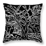 Bushveld Indaba Throw Pillow by Caroline Street