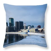 Business District Of Moscow Throw Pillow