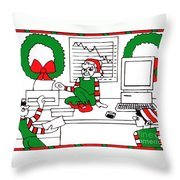 Business Elves Throw Pillow by Genevieve Esson
