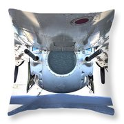 Business End Of A Ball Turret Throw Pillow