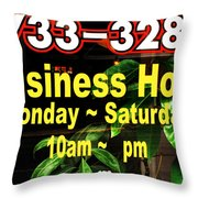 Business Hour Throw Pillow