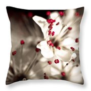 Business Is Blooming Throw Pillow
