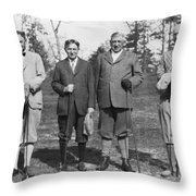 Business Leaders Play Golf Throw Pillow