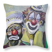 Business Partners Throw Pillow