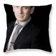 Business Portraits Throw Pillow