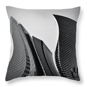 Business Skyscrapers Abstract Conceptual Architecture Throw Pillow by Michal Bednarek