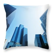 Business Skyscrapers Throw Pillow