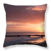 Busselton Sunrise Throw Pillow