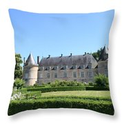 Bussy - Rabutin Palace Garden  Throw Pillow