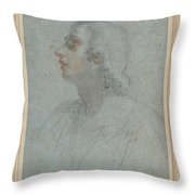 Bust Of A Youth Looking To Upper Left  Throw Pillow