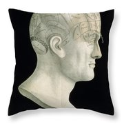 Bust Of Johan Spurzsheim Throw Pillow