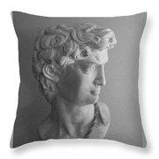 Bust Of Michaelangelo's David Throw Pillow