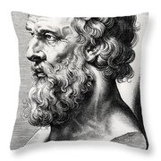 Bust Of Plato  Throw Pillow
