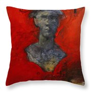 Bust Ted - With Sawdust And Tinsel  Throw Pillow by Cliff Spohn