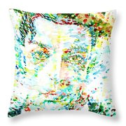 Buster Keaton - Watercolor Portrait Throw Pillow