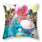 Busty Mermaid Throw Pillow